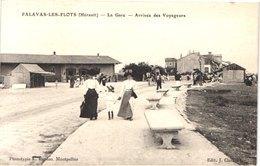 FR34 PALAVAS - Bardou - La Gare - Arrivée Des Voyageurs - Animée - Belle - Palavas Les Flots