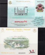 EXFILNA 1991 Spanien Block 41SD+Bl.55SD ** 45€ Goya Kathedrale Hoja S/s Painting Blocs Philatelic Sheets Art Espana - Probe- Und Nachdrucke