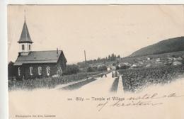 ***  VD  ****  GILLY Temple Et Village - Timbrée Précurseur Excellent état - VD Vaud