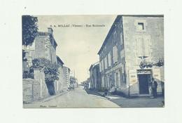 86 - MILLAC - Rue Nationale Animée Devanture Hotel Bon état - France