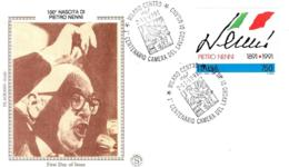 [MD4567] FDC - PIETRO NENNI - POLITICA - CENTENARIO NASCITA 1891 - 1991 - CON ANNULLO 2.11.1991 - PERFETTA - NV - 6. 1946-.. Repubblica