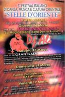 [MD4574] CPM - TORINO - 5° FESTIVAL ITALIANO DI DANZA MUSICA A CULTURA ORIENTALE - STELLE D'ORIENTE - PERFETTA - NV - Danza