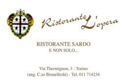 [MD4580] CPM - TORINO - RISTORANTE L'OPERA - RISTORANTE SARDO - PERFETTA - NV - Bars, Hotels & Restaurants
