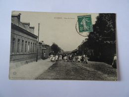 CPA 62 RIMBERT Rue De Pernes Animée Sortie D'école 1907 TBE Mine Mineur Charbon - France