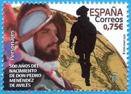 España. Spain. 2020. 500 Años Nacimiento De D. Pedro Menéndez De Avilés - 1931-Heute: 2. Rep. - ... Juan Carlos I