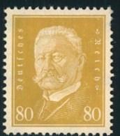 1930, Reichspräsidenten 80 Pfg. Ergänzungswert Postfrisch - Ongebruikt