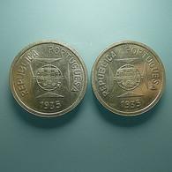 Portuguese India 2 Coins 1 Rupia 1935 Silver - Portugal