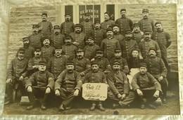 CPA CARTE PHOTO MILITARIA 69 - REGIMENT VILLEFRANCHE-sur-SAONE POSTE 12 PHOTO DE GROUPE DE SOLDATS - Villefranche-sur-Saone