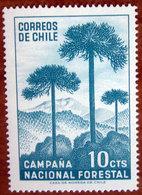 1967 CILE Alberi Foresta Araucaria - 10cts  Nuovo - Chile