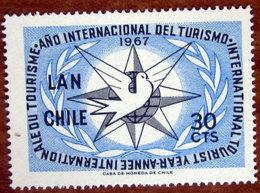 1967 CILE Posta Aerea Turismo International Tourist Year, Emblem - 30cts  Nuovo - Cile