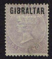 6 Pence Violet No. 6  NO Gum. - Gibraltar