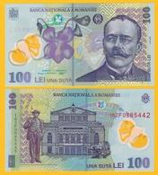 Romania 100 Lei P-121 2016 UNC Polymer Banknote - Rumania