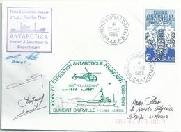 YT 186 BCR Var - Posté à Bord Du Nella Dan - Dumont D'Urville - Terre Adélie - 26/12/1986 - Französische Süd- Und Antarktisgebiete (TAAF)