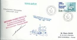 YT 129 Aviso Eure - Détachement Hélicoptère - Dumont D'Urville - Terre Adélie - 23/01/1987 - Französische Süd- Und Antarktisgebiete (TAAF)