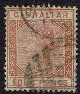 Gibraltar 4pence Used. No. 12 - Gibraltar
