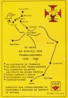 1987 Pocket Calendar Calandrier Calendario Portugal Sindicato Labor Unioin Unión UGT Trab Escrit E Serviços Setúbal - Calendars