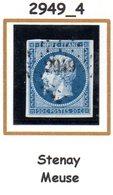 France : Petit Chiffre N°2949 :  Stenay (  Meuse )  Indice 4 - 1849-1876: Klassik