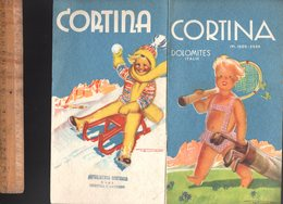 Livret Touristique :  CORTINA D'AMPEZZO Dolomites Italie 1949 / Illustration LENHART - Folletos Turísticos