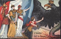 CPA Guerre 1914 L'union Fait La Force Alliés Contre Allemagne 1740 Solomko Profit Oeuvres Municipales XIV Arrondissement - War 1914-18