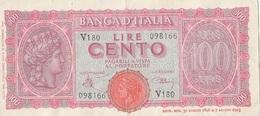 Billet 100 Lire 1943 - [ 1] …-1946 : Kingdom