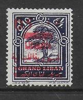 GRAND-LIBAN - YVERT N°116 DOUBLE SURCHARGE * MH - COTE = 55 EUR. - Great Lebanon (1924-1945)