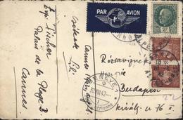 Carte Photo Enfant Pour La Hongrie Par Avion YT 515 X2 + 518 CAD Cannes 28 8 42 Transit Genève 30 VIII 42 Tarif Rare - Marcophilie (Lettres)