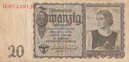 20 Reichsmark 1939 - [ 4] 1933-1945 : Third Reich