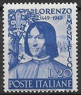 Italy - Italia 1949 Mi. No. 782 - 1946-60: Ungebraucht