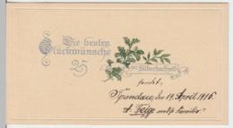 (8292) Glückwunschkarte, Silberhochzeit, Eichenzweig 1916 - Hochzeiten