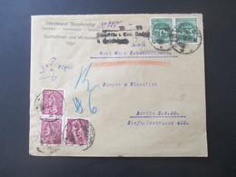 DR Infla 1923 Wertbrief Zehn Millionen Mit Stempel Und Handschfritlichem Vermerk Aus Eydtkuhnen Ostpreussen Nach Berlin - Covers & Documents