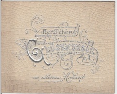 (8616) Glückwunschkarten, Hochzeit, Kärtchen, Set Siebenteilig, Vor 1945 - Hochzeiten