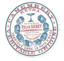 ETIQUETTE De FROMAGE..Petit..CAMEMBERT Fabriqué Dans Le PAYS D'AUGE..Félix SEREY à CAMEMBERT (Orne 61) - Cheese