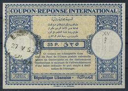 LEBANON / LIBAN London Type Lo15 35P.International Reply Coupon Reponse Antwortschein IAS IRC O BEYROUTH 27.05.53 - Liban