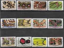 2020 FRANCE Adhesifs Oblitérés, Papillons, Série Complète - Frankreich