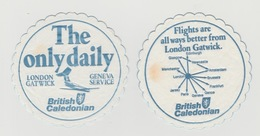 2x Onderzetters British Caledonian London Gatwick - Sous-verres