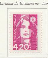"PIA - FRANCE - 1992 : Uso Corrente - ""Marianna Del Bicentenario"" - (Yv 2770) - 1989-96 Marianne Du Bicentenaire"