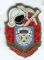 @@ Blason écusson Casque Sapeurs Pompiers Avec Piolet SAINT JEOIRE @@pom29a - Brandweerman