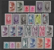 GRAND-LIBAN - YVERT N°150/175* MH (164 OBLITERE) - COTE = 56 EUR. - Great Lebanon (1924-1945)