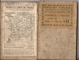 CARTE TARIDE POUR CYCLISTES ET AUTOMOBILISTES. CENTRE DE LA FRANCE N°11. ENTOILEE - Carte Stradali