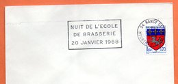 54 NANCY 01  L' ECOLE DE BRASSERIE  1968  Lettre Entière N° FG 359 - Maschinenstempel (Werbestempel)