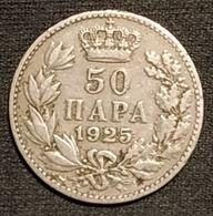 YOUGOSLAVIE - 50 PARA 1925 - KM 4 - ( Royaume Des Serbes, Croates Et Slovènes ) - Yougoslavie