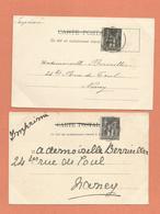 06 Cannes Lot 2 Cpa Cachet 1899 - Marcophilie (Lettres)