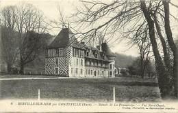 - Eure -ref-B99- Berville Sur Mer  Par Conteville - Manoir De La Pommeraye - Vue Nord Ouest - Manoirs - Chateaux - - Francia