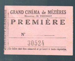 Mézières (08 Ardennes ?? ): Ticket D'entrée GRAND CINEMA DE MEZIERES (PPP22021) - Tickets D'entrée