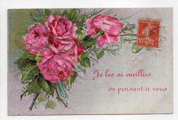 - CPA FLEURS / RELIEF - - Flores