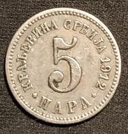 SERBIE - SERBIA - 5 PARA 1912 - KM 18 - Serbie