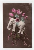 - CPA FLEURS - Roses Et éléphant - Série IRISETTE 1738 - - Fleurs