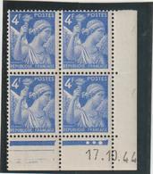 N°656  Bloc De 4 Coin Daté ** - 1939-44 Iris