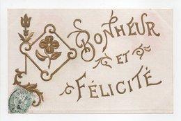 - CPA FLEURS / RELIEF - Bonheur Et Félicité - - Flores