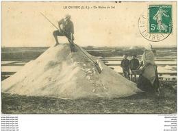 44 LE CROISIC. Un Mulon De Sel Vers 1915. Paludiers - Le Croisic